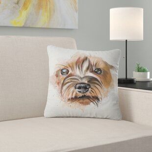 Animal Funny Watercolor Dog Pillow
