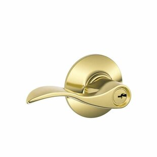 Accent Lever Single Cylinder Keyed Entry Storeroom Lock by Schlage
