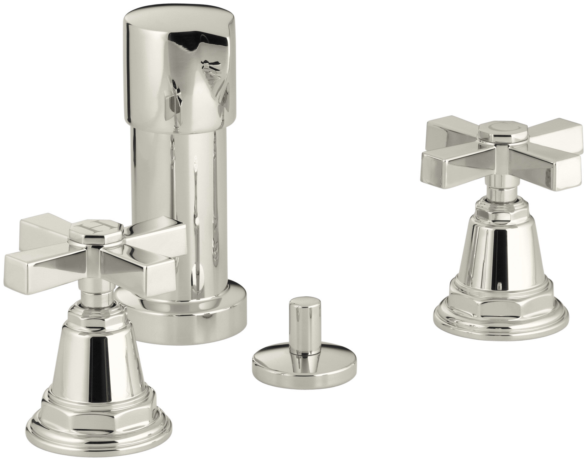 Kohler Pinstripe Pure Vertical Spray Bidet Faucet With Cross Handles Perigold