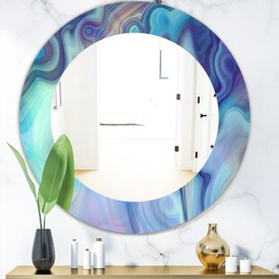 Marbled Geode 8 Modern Frameless Wall Mirror by East Urban Home
