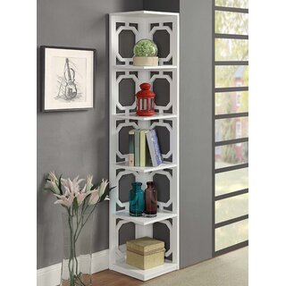 Ardenvor Corner Bookcase by Beachcrest Home SKU:AE604410 Price Compare