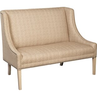 Narrow Arm Winged Settee