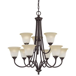 Best Reviews Harmony 9-Light Shaded Chandelier By Thomas Lighting