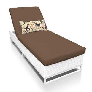TK Classics Miami Chaise Lounge with Cushion