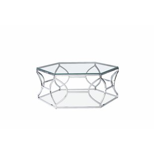 Argent Cocktail Table- Polished Steel