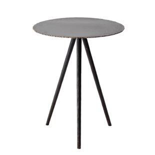 Courtois Iron Cut-Edge End Table by 17 Stories
