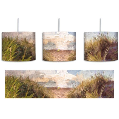 Path to the Sea 1-Light Drum Pendant East Urban Home