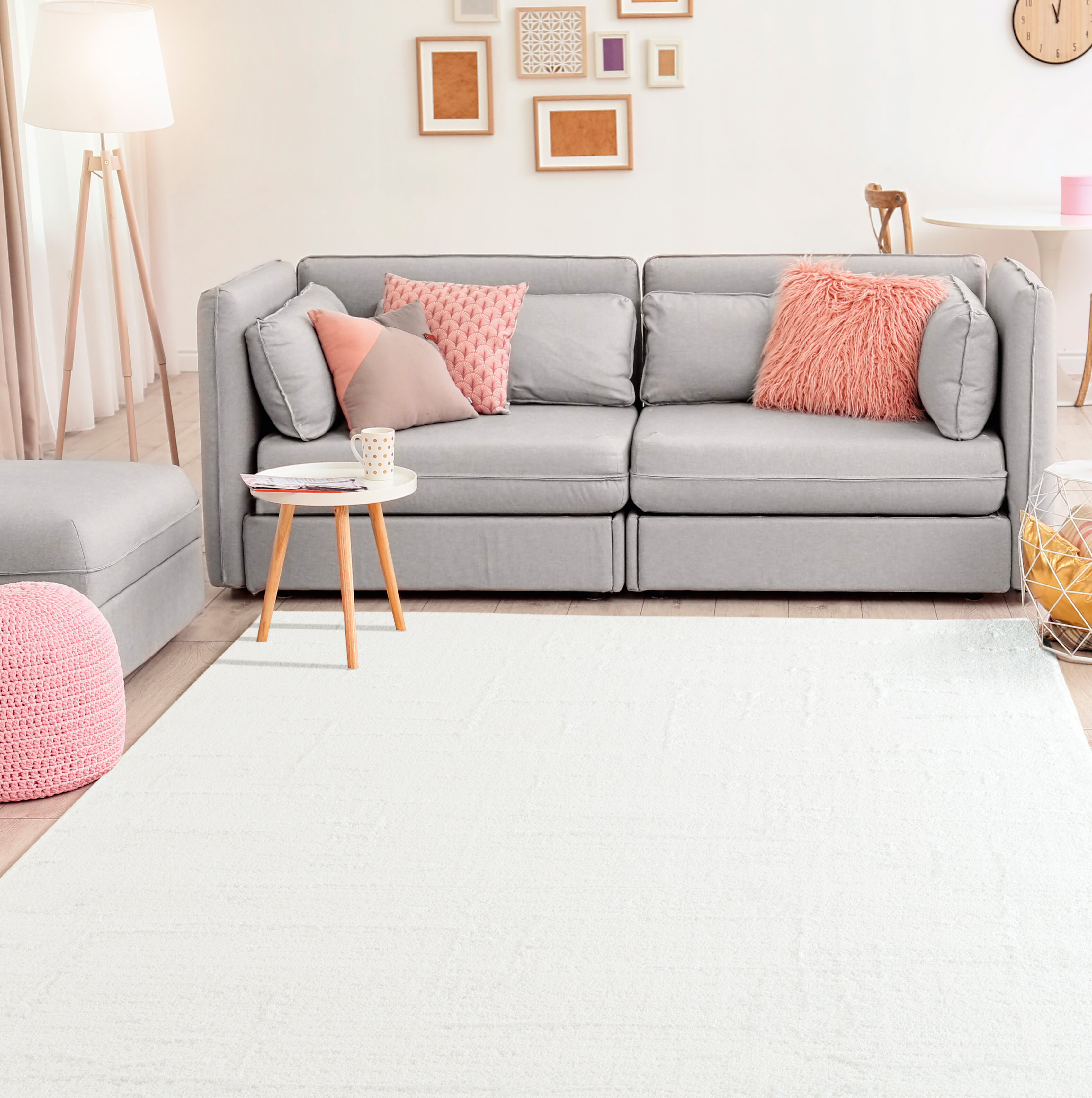 Union Rustic Ospina Accent White Area Rug | Wayfair
