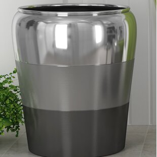 Great Price Colby Stainless Steel Waste Basket ByNU Steel