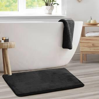 Doux Touffeté Microfibre Salle de bain Douche Tapis Bain adressons absorbant tapis antidérapant Arrière