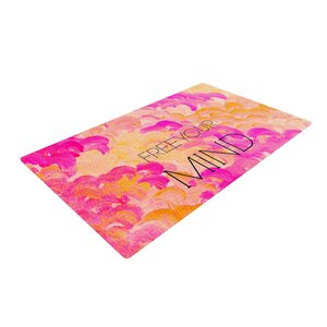 Ebi Emporium Free Your Mind Pink/Orange Area Rug