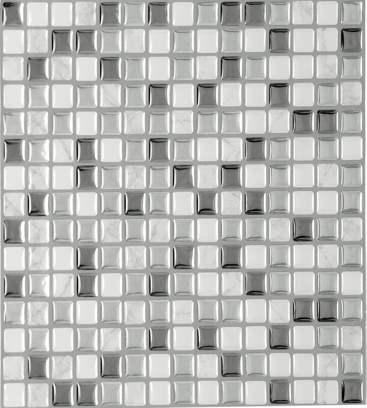 L Stick Mosaic Tile In Achim Importing Co Magic Gel Self Adhesive 9 13 X Vinyl