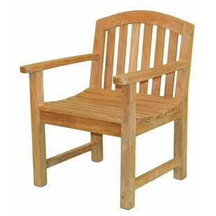 Fanback Teak Patio Chair