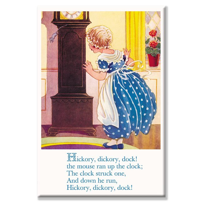Hickory, Dickory, Dock! Vintage Advertisement on Wrapped Canvas