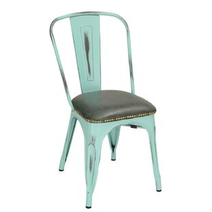 Vintage Tolix Upholstered Dining Chair (S..