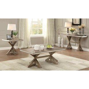 One Allium Way Krajewski 3 Piece Coffee Table Set