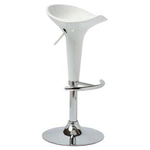 Melba Height Adjustable Swivel Bar Stool By Mercury Row