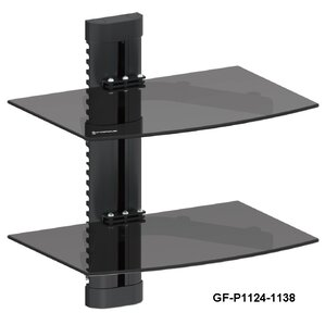 DVD Player Double Shelf Wall Mount by GForce