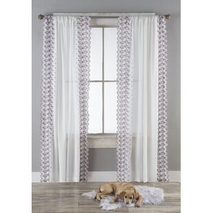 Millet Lace Floral Semi-Sheer Curtain Panels (Set of 2) by August Grove