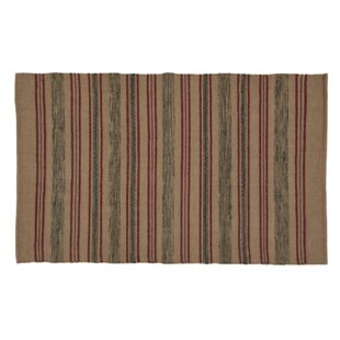 Best Reviews Thelma Wool Beige/Red/Green Area Rug By August Grove