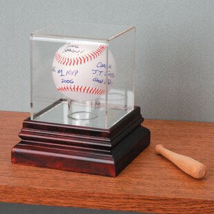 Mahogany Baseball Display By Darice
