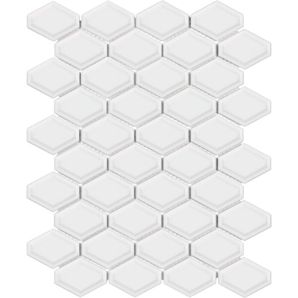 Parvatile Sail Ceramic Porcelain Mosaic Tile In Glossy White Reviews Wayfair