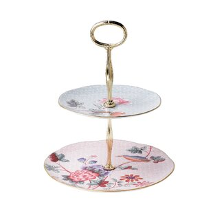 Cuckoo Tea Story 2-Tier Cake Stand  sc 1 st  Wayfair & 2 Tier Plate Holder | Wayfair