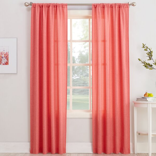 No. 918 Revere Solid Sheer Rod Pocket Single Curtain Panel & Reviews by No. 918 Millennial