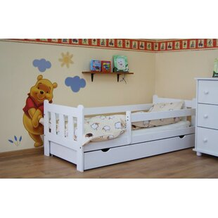 Ashly Convertible Toddler Bed with Drawer by HoneyBee Nursery