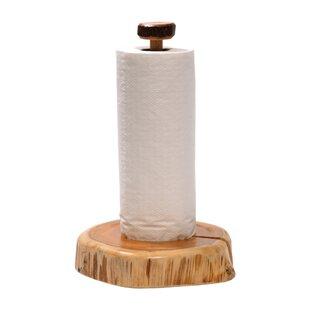Traditional Cedar Log Free-Standing Paper Towel Holder