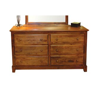 Diandre 6 Drawer Double Dresser With Mirror by Loon Peak
