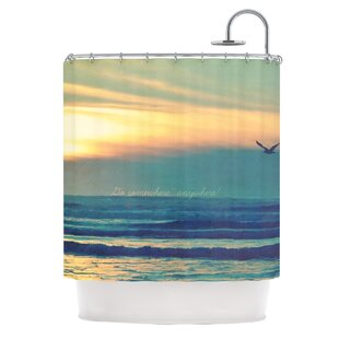 Go Somewhere Single Shower Curtain