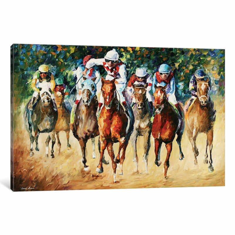 Red Barrel Studio Horse Race Wall Art