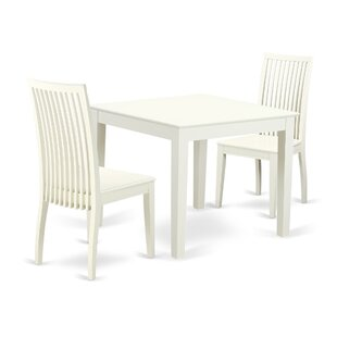 Cobleskill 3 Piece Breakfast Nook Solid Wood Dining Set