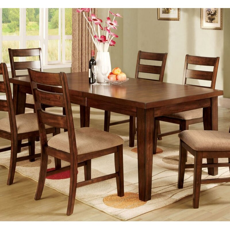 Charlton Home Angelica Extendable Solid Wood Dining Table Wayfair