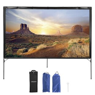 Outdoor 80 Portable Projection Screen