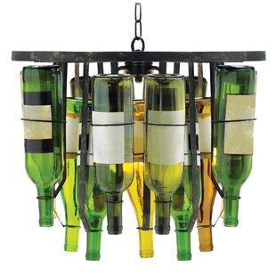 Wine bottle chandelier wayfair chiasson 2 light novelty chandelier aloadofball Image collections