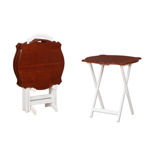 Read Reviews Elvina 4 Piece Tray Table Set By Alcott Hill