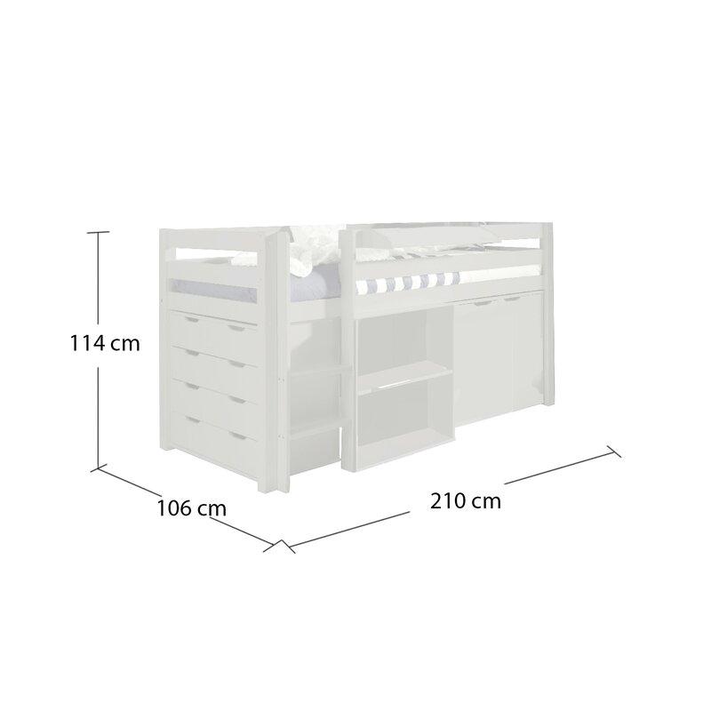 Vipack Spielbett Pino Mit Schreibtisch Schubladenkommde Und Kommode