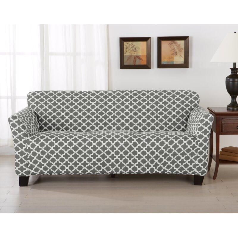 Home Fashion Designs Brenna Box Cushion Sofa Slipcover & Reviews ...