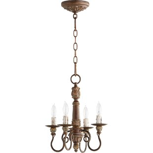 One Allium Way Paladino 4-Light Candle Style Chandelier