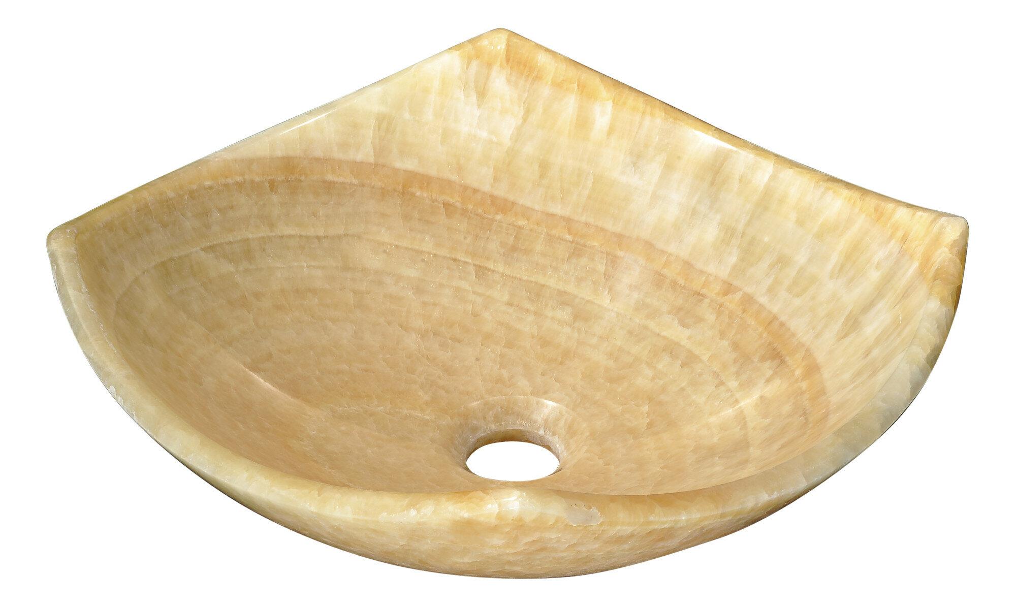 Anzzi Flavescent Visage Cream Jade Stone Specialty Vessel Bathroom Sink Reviews Perigold