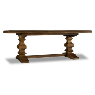 Archivist Trestle Extendable Dining Table with 2 Leaves by Hooker Furniture
