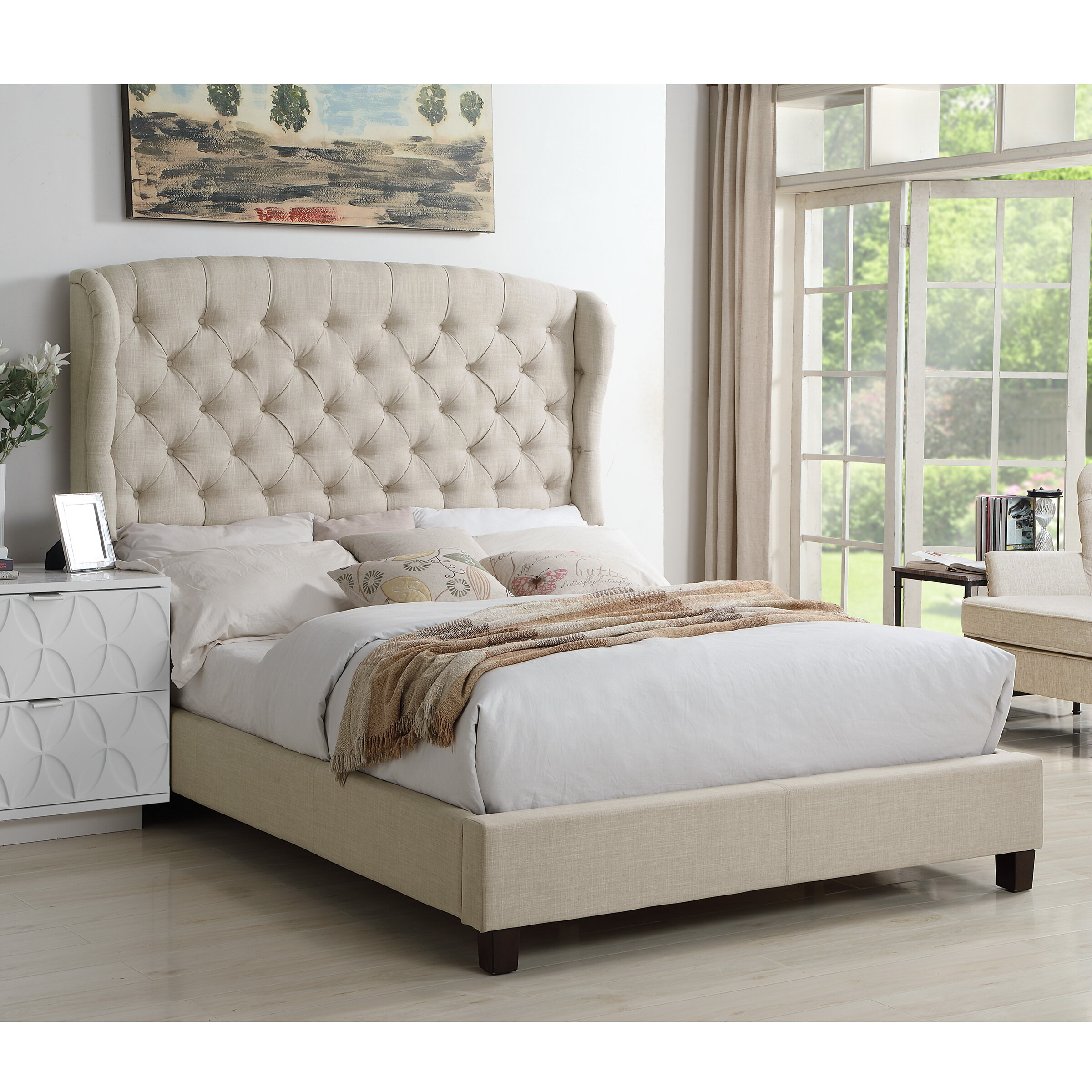 White Upholstered Beds You Ll Love In 2020 Wayfair