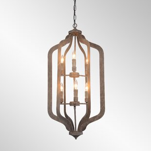 Bungalow Rose Gaertner 6-Light Lantern Pendant