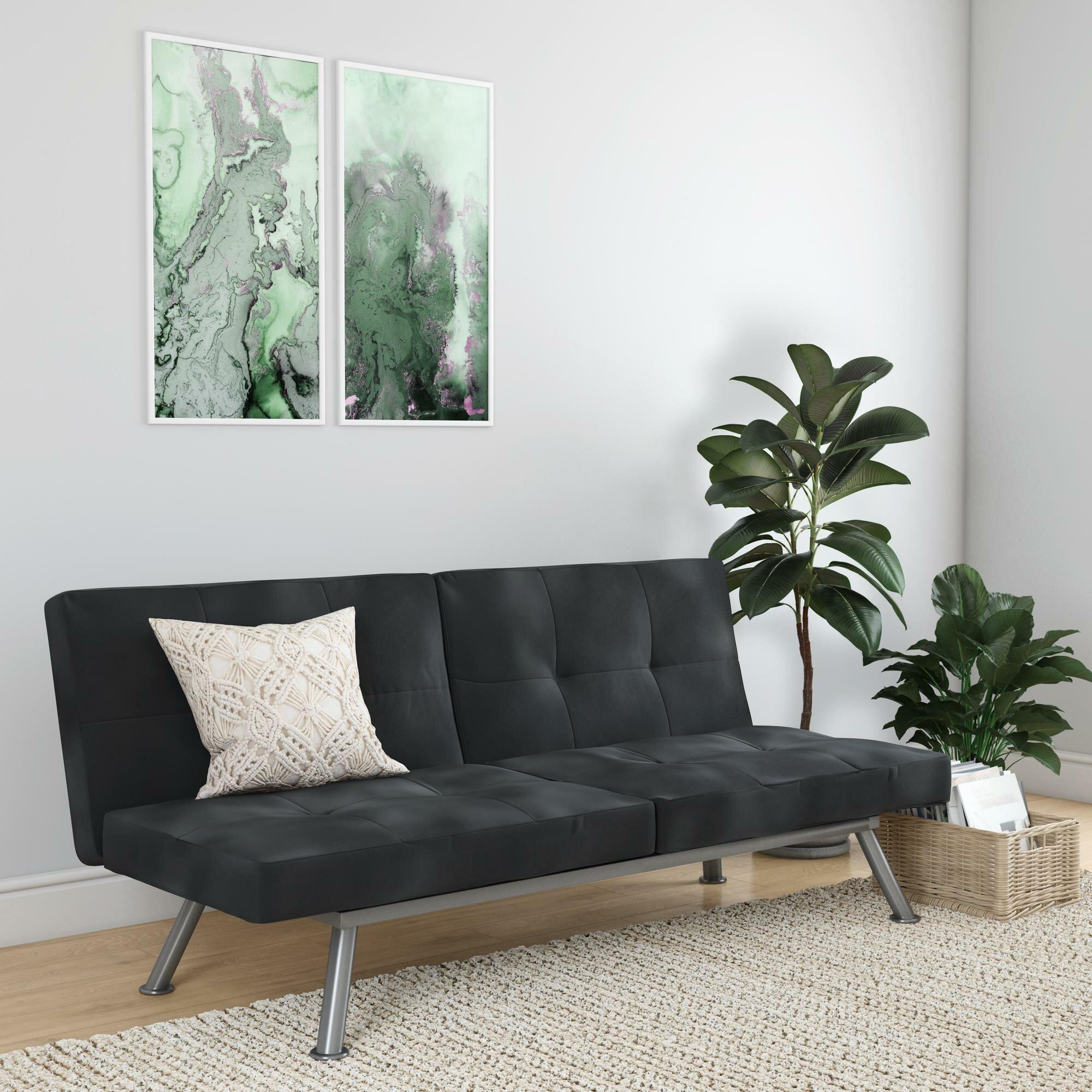 Latitude Run Gaware Twin Or Smaller Tufted Back Convertible Sofa Wayfair Ca