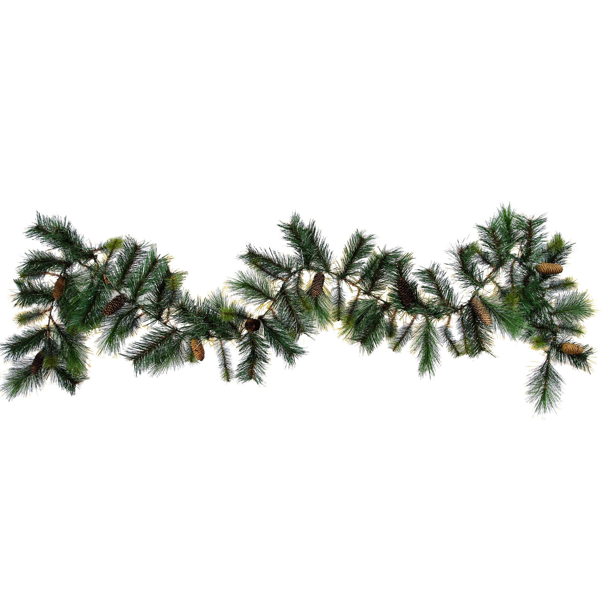 Christmas Pine Garland.Christmas Pine Garland Natural Pine Cone