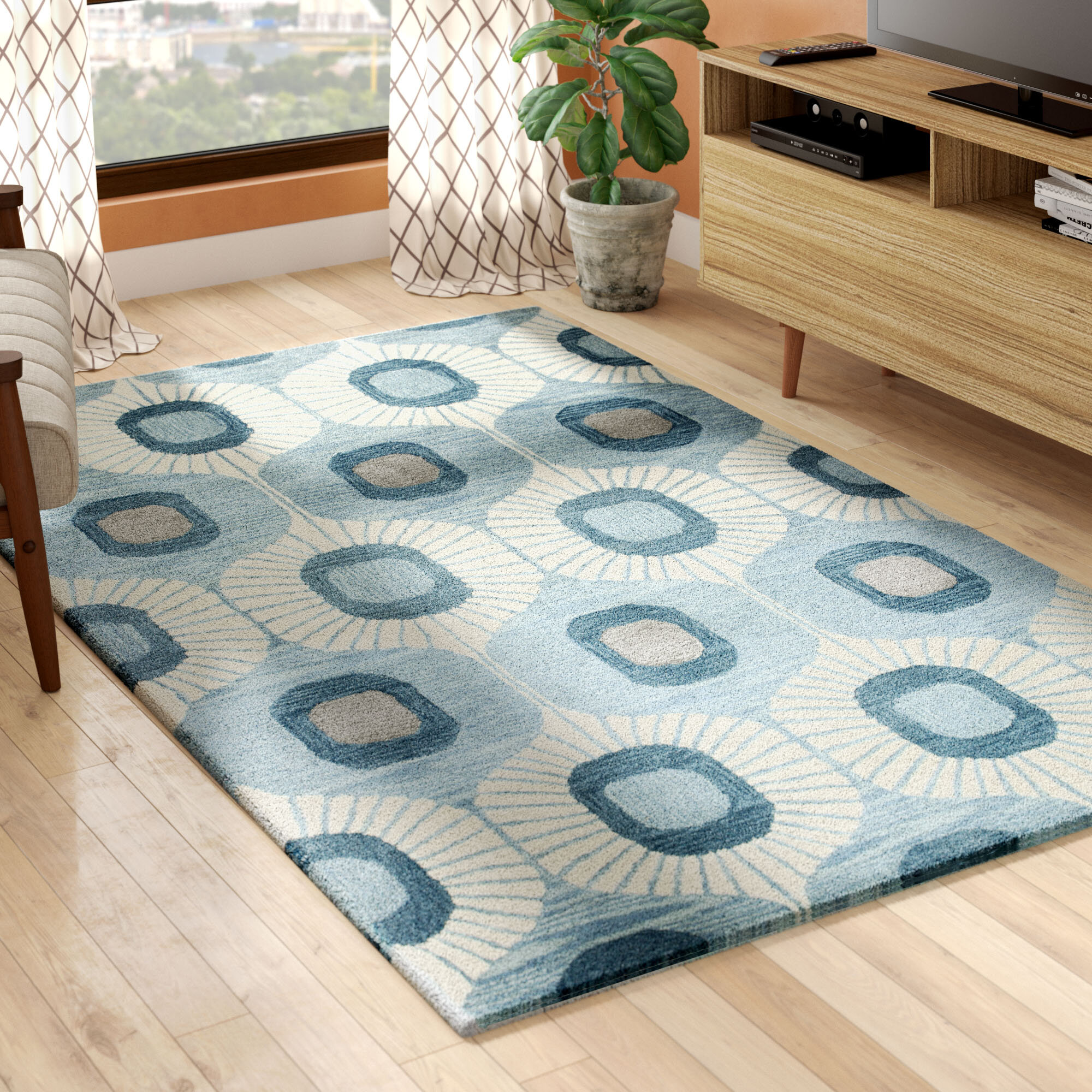 Blue Wool Area Rugs You Ll Love In 2021 Wayfair