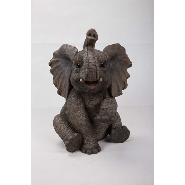 Hi Line Gift Ltd Sitting Elephant Baby With Trunk Up