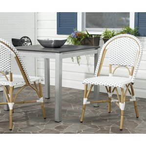 lucia stacking patio dining chair with cushion set of 2